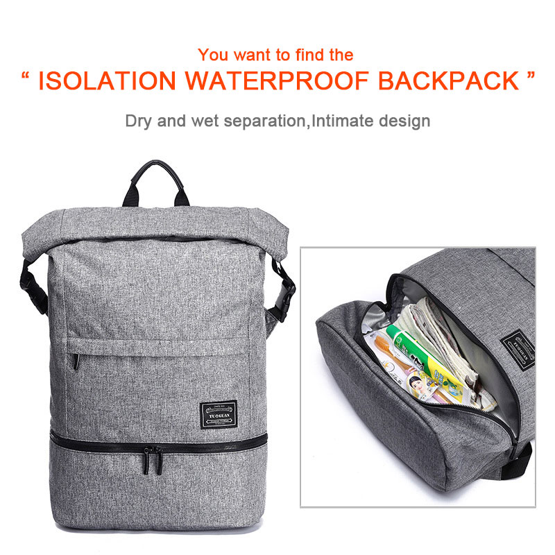 Dry wet separationintim ate Waterproof anti-theft Large capacity Laptop Backpack for 15.6 ASUS FX50JK A555L ZX50J Notebook bag