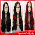 New body wavy hair glueless synthetic full lace wigs with baby hair heat resistant lace front Cheap fiber wigs for black women