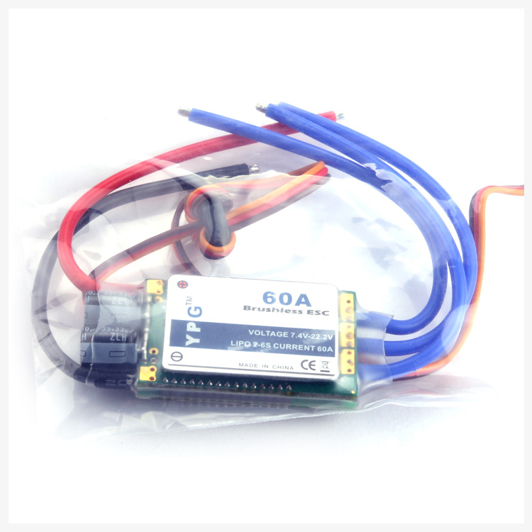 Freeshipping YPG 60A (2~6S) SBEC Brushless Speed Controller ESC High Quality ypg 60a esc brushless speed controller 2 6s sbec for rc helicopter airplane