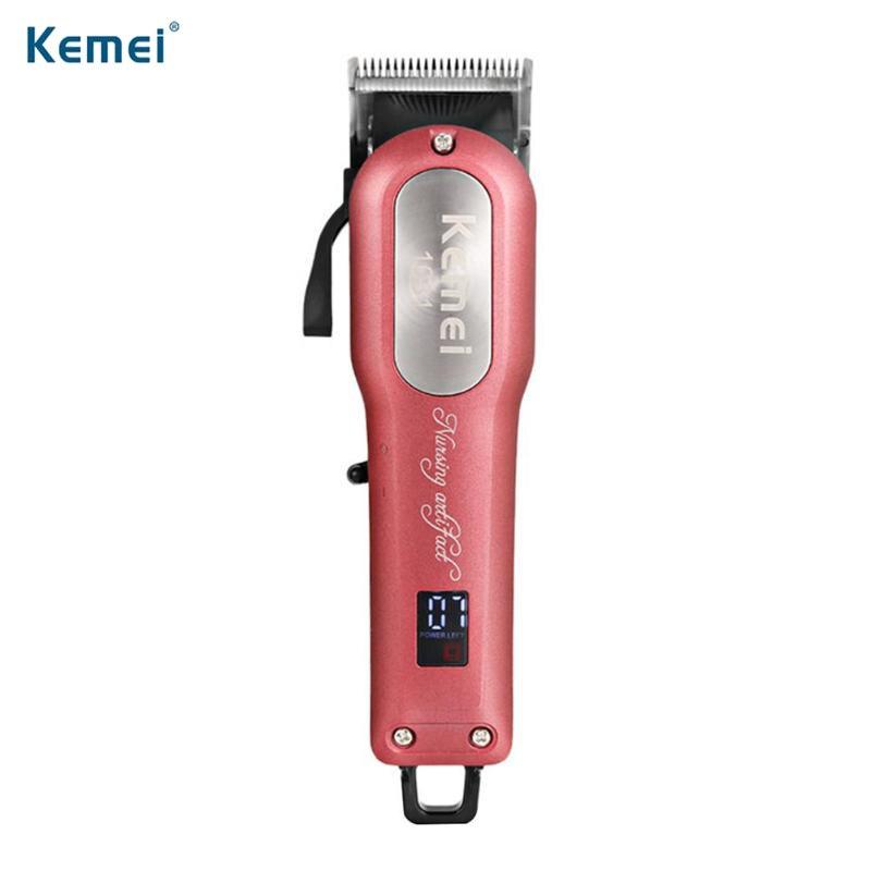 Kemei KM-1031 professionnel électrique tondeuse à cheveux Rechargeable rasoir tondeuse à barbe Machine à raser avec 4 peigne de guidage