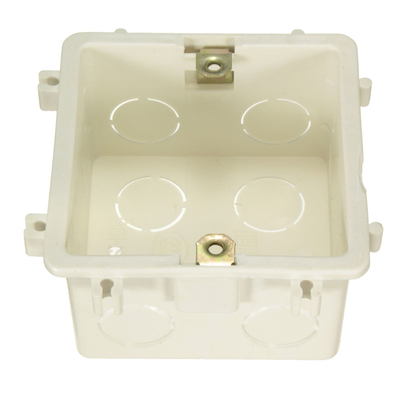 10PCS 86 Cassette Universal White Wall Mounting Box for Wall Switch and Plastic Enclosure Socket Back Box Outlet Top Quality 86x86 pvc junction box wall mount cassette for switch socket base