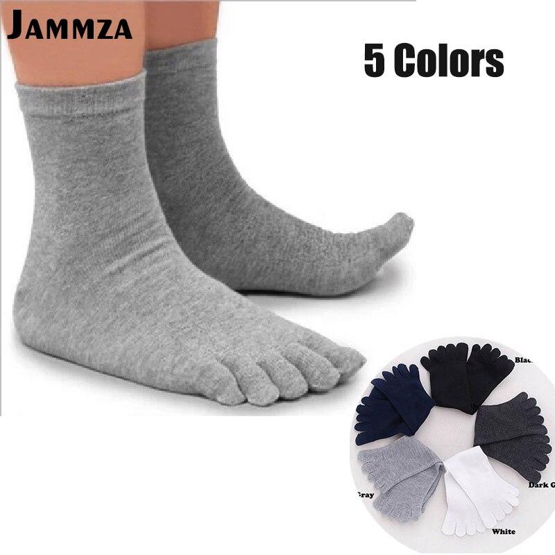 5 Pairs/Lot Solid White Black Gray Men Toe   Socks   Bamboo Fiber High Quality Male Summer Winter Cotton   Socks   Five / 5 Finger   Socks