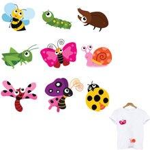 Приборы для одежды патчи с помощью утюга бабочки украшения полоски