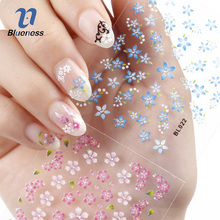 Blueness 30 Sheet Nail Stickers Beauty Floral Design Patterns Mixed Decals Transfer Tips 3D Nail Art