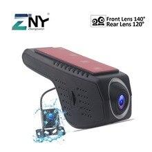 Macchina Fotografica dell'automobile DVR Dual Lens Full HD 720 P Video Recorder Registrator Visione Notturna Videocamera Portatile Dell'automobile DVR Dash Cam Per android Auto Radio