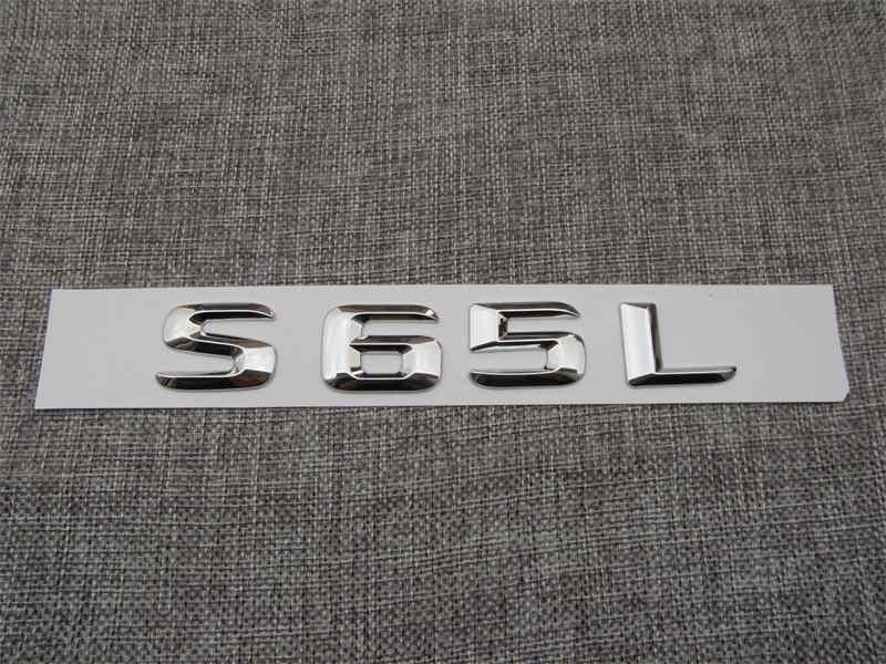 Хром 3D ABS пластиковый автомобильный багажник задние буквы значок эмблема наклейка Наклейка для Mercedes Benz S Class S65L