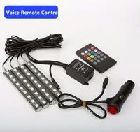 Car Styling Wireless Remote Music Voice Control Interior Floor Foot Decoration Light Cigarette LED Atmosphere RGB