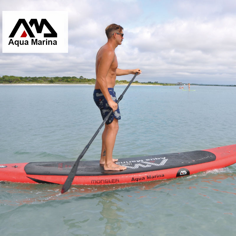 surf board 365*82*15 AQUA MARINA MONSTER inflatable sup board stand up paddle board surf kayak sport inflatable boat A01002 shoulder bag carry bag for inflatable boat kayak sup board stand up paddle surfing board pump oar dinghy raft surf board a05011