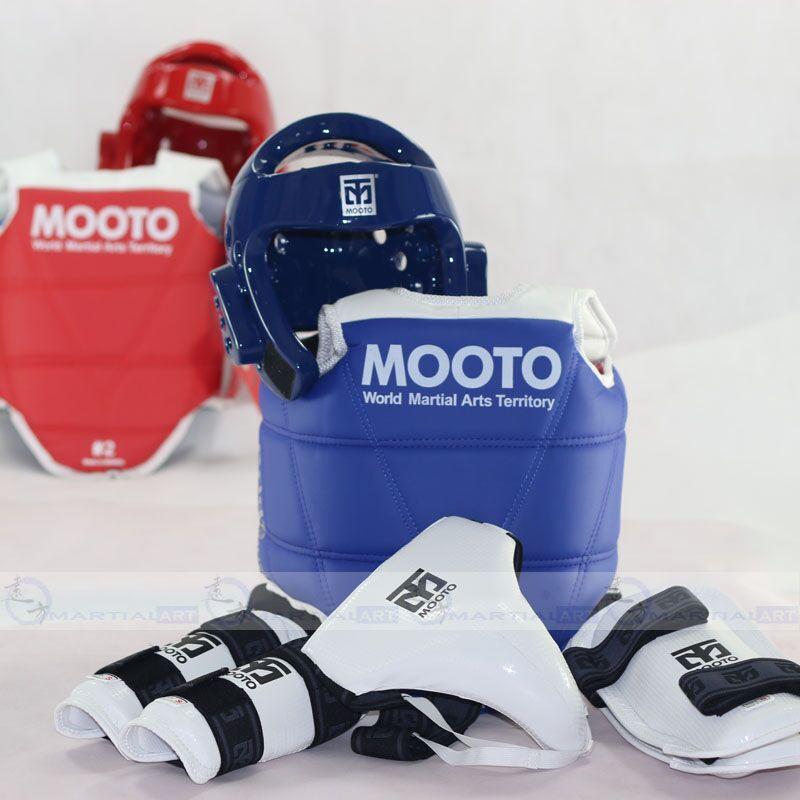Nouveau Tae kwon do Taekwondo Karaté et tête protecteur Mooto équipement de protection 5 pièces ensemble fierté armure bras garde protège-tibia WTF standard