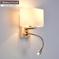 Qiseyuncai Nordic criativo moderno e minimalista sala de estar escadas lâmpada de parede do corredor de arte em madeira maciça quarto lâmpada de cabeceira|Luminárias de parede| |  -