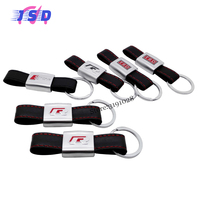 Car Styling Key Chain Key Ring 3D Logo Leather Keychain Holder For Toyota Honda Ford Peugeot