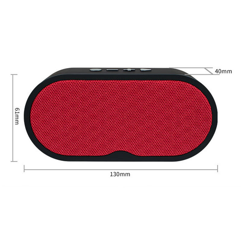 Portable Bluetooth Speaker Portable Wireless Player Linen Design Subwoofer Loudspeakers Audio For Phone With Mic Tf Usb in Portable Speakers from Consumer Electronics