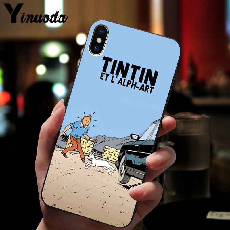 Yinuoda การผจญภัยของ Tintin สีดำ Tpu ซิลิโคนโทรศัพท์สำหรับ iPhone 8 7 6 6 S Plus X XS MAX 5 5 S SE XR โทรศัพท์มือถือ