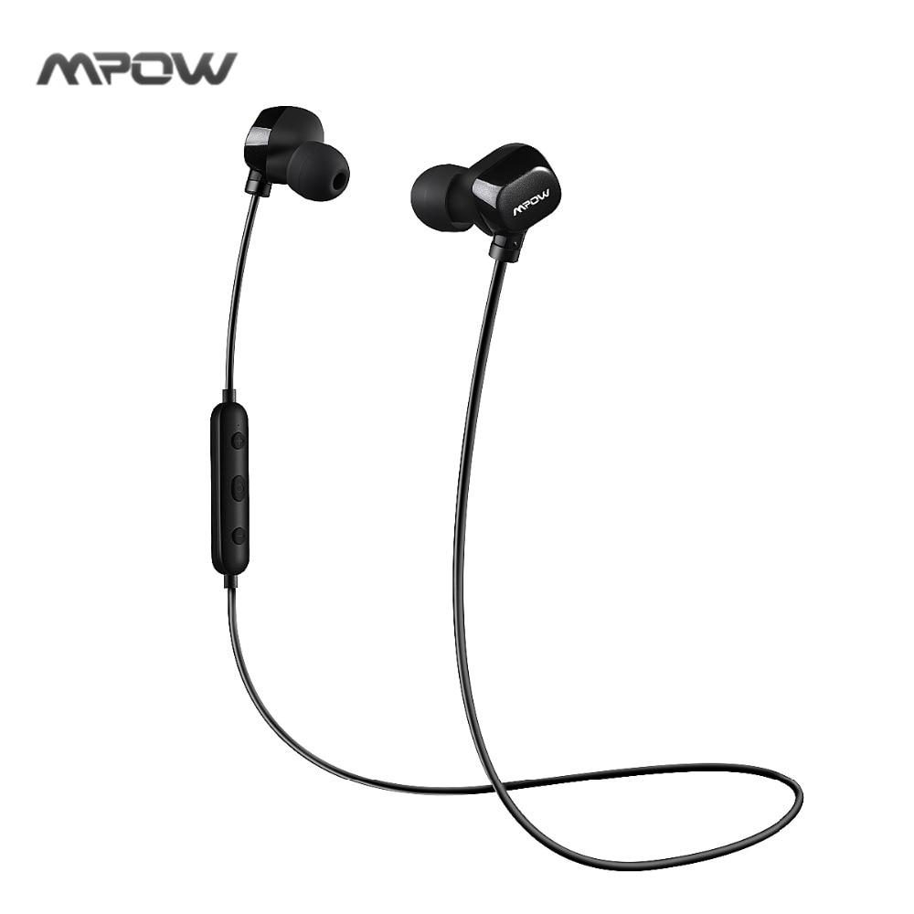Mpow Wireless Earphones Sweatproof Sport Running Bluetooth Headset Headphone Bluetooth Earpiece With Mic CVC6.0 Noise Cancelling big bluetooth wireless headphone earphones