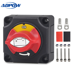 ADPOW Marine Boat Car Battery Isolator Switch Cut Off Disconnect Terminal 12V 24V Waterproof Truck Vehicle Battery Switch