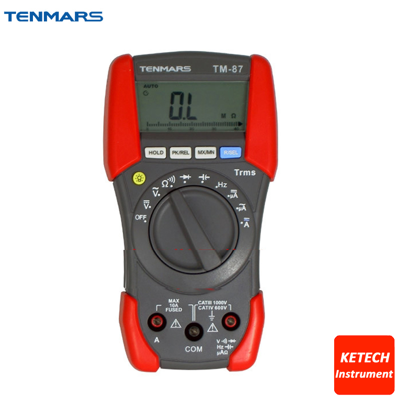 TM87 CAT IV 600V Digital HandHeld DMM Multimeter Tester my68 handheld auto range digital multimeter dmm w capacitance frequency