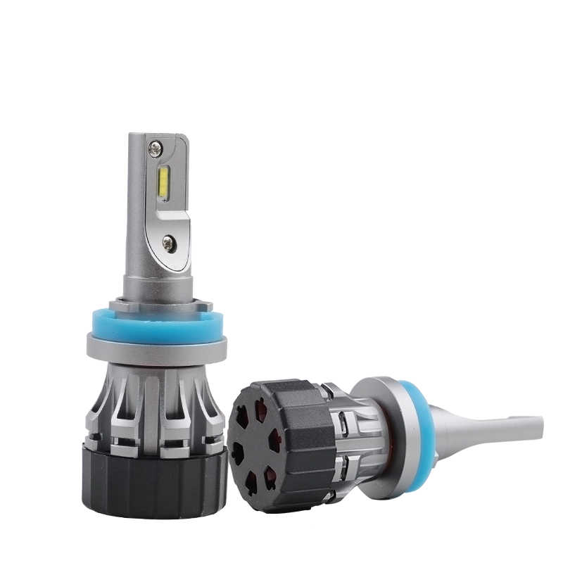 PAMPSEE Mini All In One Plug and Play Mini LED Headlight Foglight Bulbs H1 H4 H7 H8 H11 9005 9006 9012 50W 5800LM CSP Flip Chips