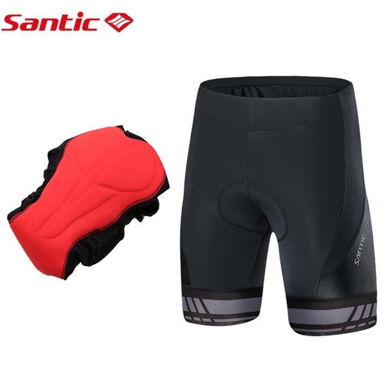 """""""Santic"""" vyriškos dviračių sportinės šortai 2019 """"Coolmax 4D"""" padėkliuko šortai, atsparūs smūgiams MTB """"Road Bike Pro"""" šortai, neleidžiantys pilingai, atspindintys ciclismo"""