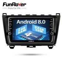 Funrover IPS 8 Android 8.0 2 din car dvd gps For Mazda 6 mazda6 2008 2009 2010 2011 15 Autoradio Glonass tape recorder usb WIFI