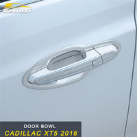 GELINSI Door Bowl Door Wrist Cover Trim Frame Sticker Exterior Accessories for Cadillac XT5 2016 Car Styling