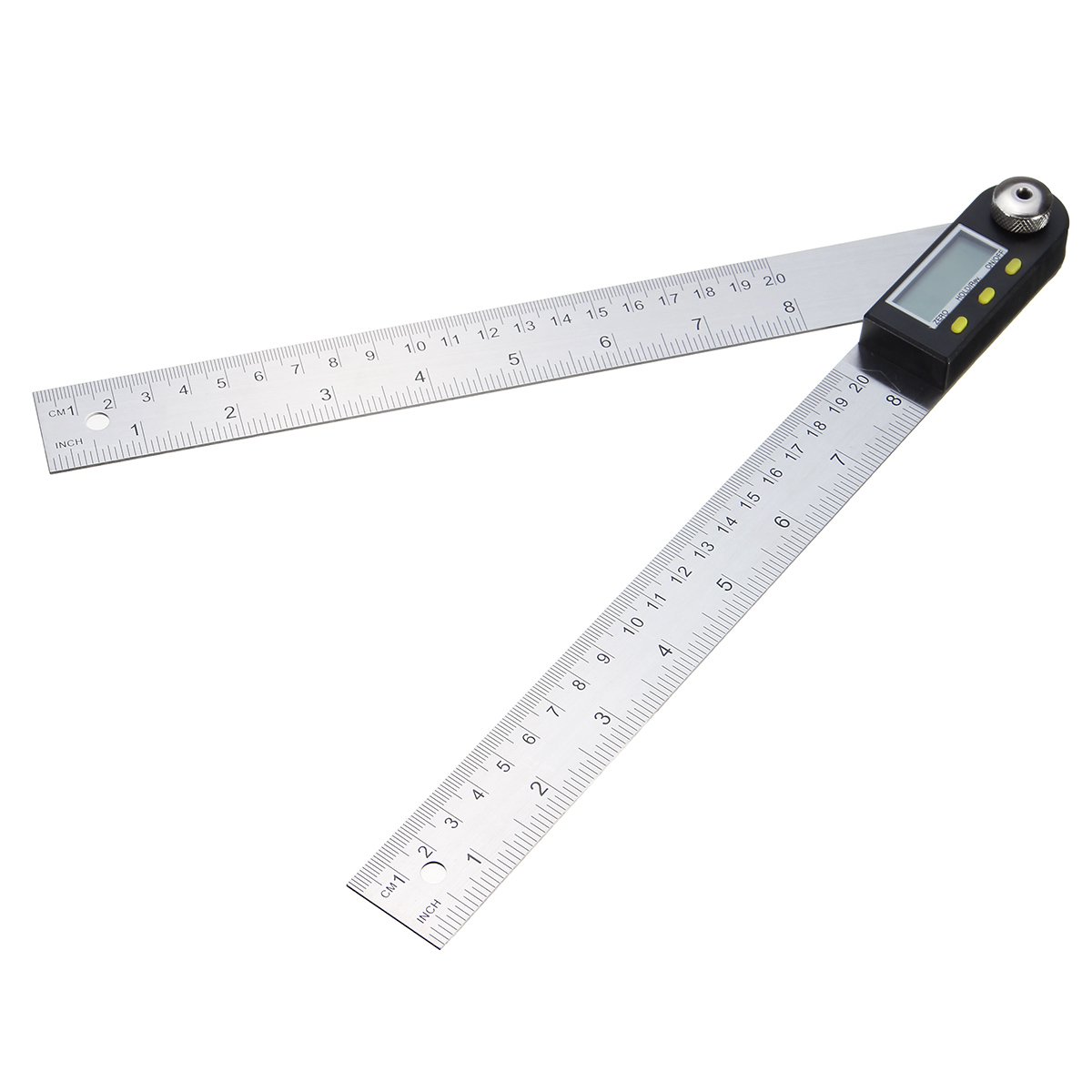 2-in-1 200mm Stainless Steel Digital Protractor Inclinometer