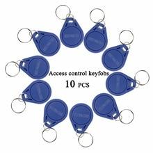 10 adet RFID Keyfobs 125KHz Proximity ID jetonu etiket anahtar Keyfobs kapı erişim kontrolü için