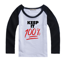 Keep it 100% School for Gifted Youngsters Design Printed Kids T-Shirt Girls Boys Gift TopsSleeve Spring autumn winter clothes