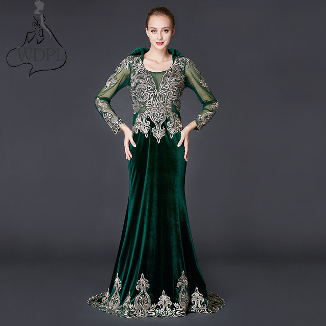 Vestido veludo verde esmeralda