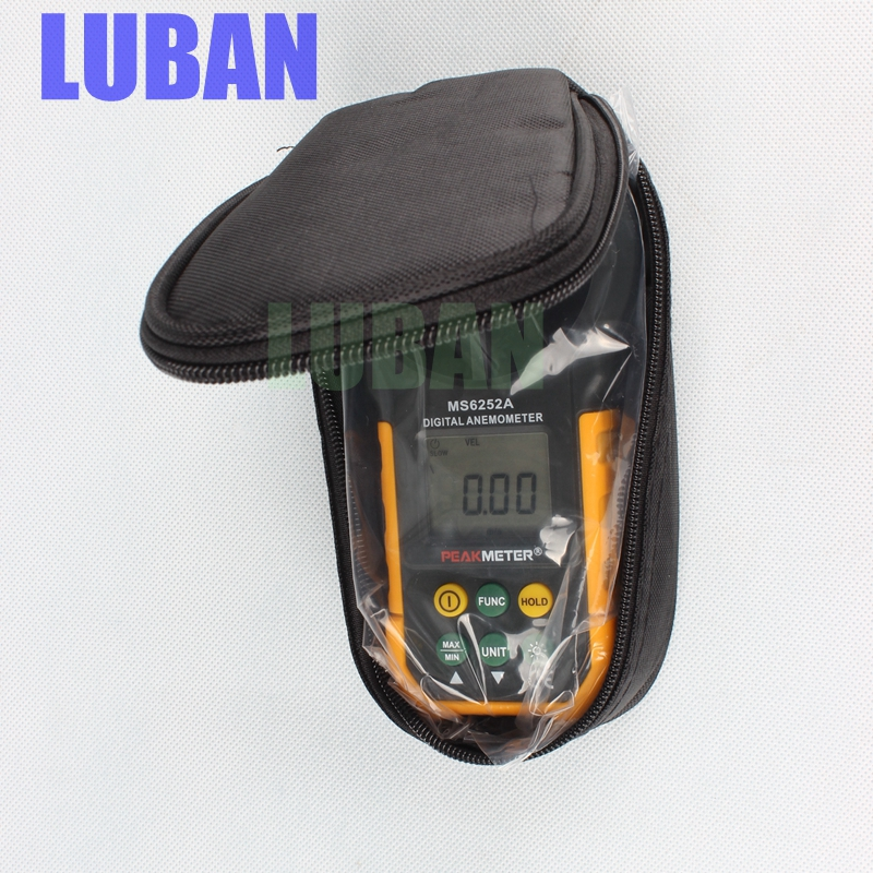 цены High quality Digital Anemometer Wind Speed Air Volume Measuring Meter MS6252A LCD