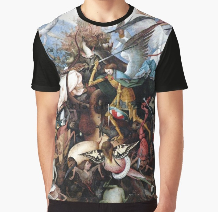 All Over Print T Shirt Men Funny Tshirt Pieter Bruegel The Fall Of The Rebellious Angels 1562 Graphic T-Shirt