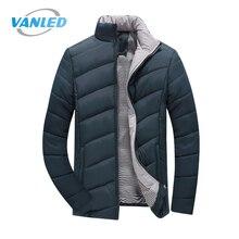 Плюс Размеры 5XL 2017 зимняя куртка Мужские Теплые повседневные Парки Хлопок Стенд воротник зимняя куртка мужской пальто верхняя одежда