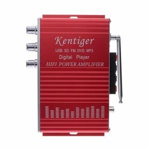 Kentiger HY-502 5A 2CH Hi-Fi цифровой автомобильный стерео аудио усилитель Авто Аудио FM радио плеер Поддержка SD USB MP3 DVD вход