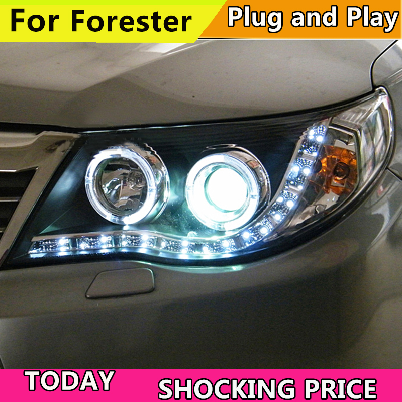 Car styling auto Part Style LED Head Lamp for Subaru Forester 2008-2012 led headlights drl hid Bi-Xenon Lens low beam auto part style led head lamp for toyota tundra led headlights 09 11 for tundra drl h7 hid bi xenon lens angel eye low beam