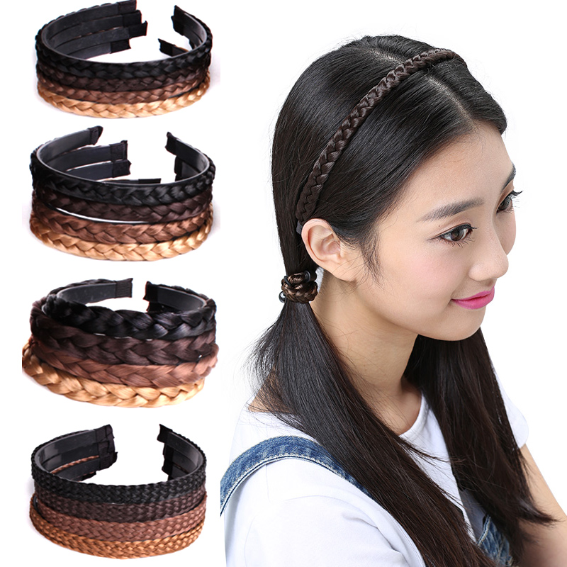 Hair Wig Accessories 1PC New Hot  Headband Fashion Creative Women Hair Accessories Hairpiece Korean Braids Girls Headwear