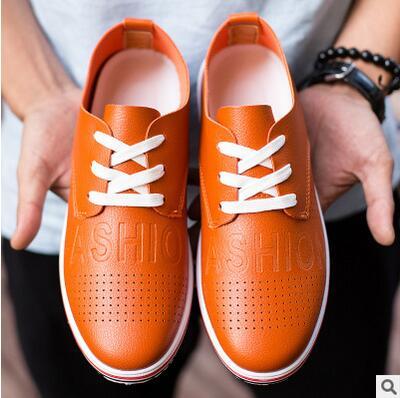 Zapatos de los hombres de Inglaterra zapatos de los hombres huecos de verano  joven hombres Guisantes