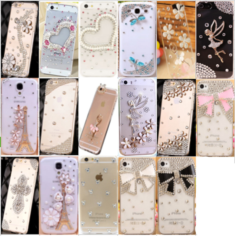Fashion Rhinestone Diamond Clear Crystal PC phone Cases For Sony Xperia M2 M4 Aqua M5 Z1 mini/Compact Z2 phone ...