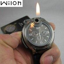 2016 Militar Reloj Encendedor Novedad Hombre Cuarzo Se Divierte Recargables Gas Cigarros hombres Relojes de Marca de Lujo de Regalo Caja Al Por Menor