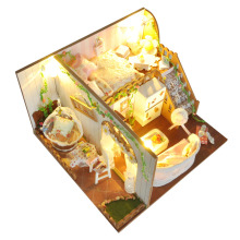 Cutebee Doll House Furniture Miniature Dollhouse DIY Room Box Theatre Toys for Children TD10