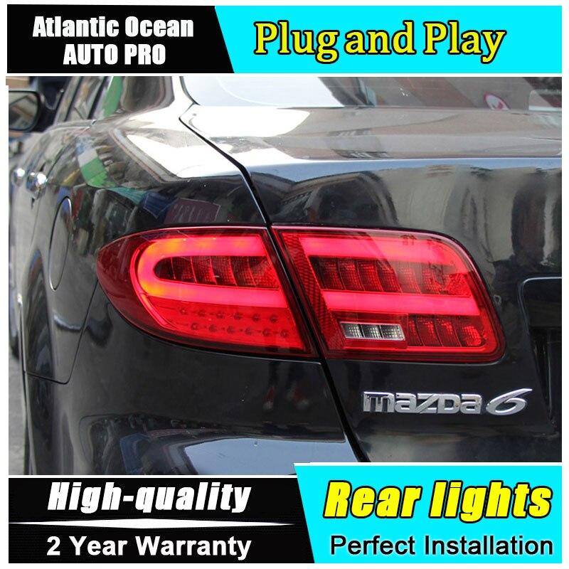 Автомобиль JGRT стайлинг для Mazda 6 светодиодные задние фонари 2004-2013 модели Mazda6 задний фонарь задний фонарь задний свет 1 пара ,4шт