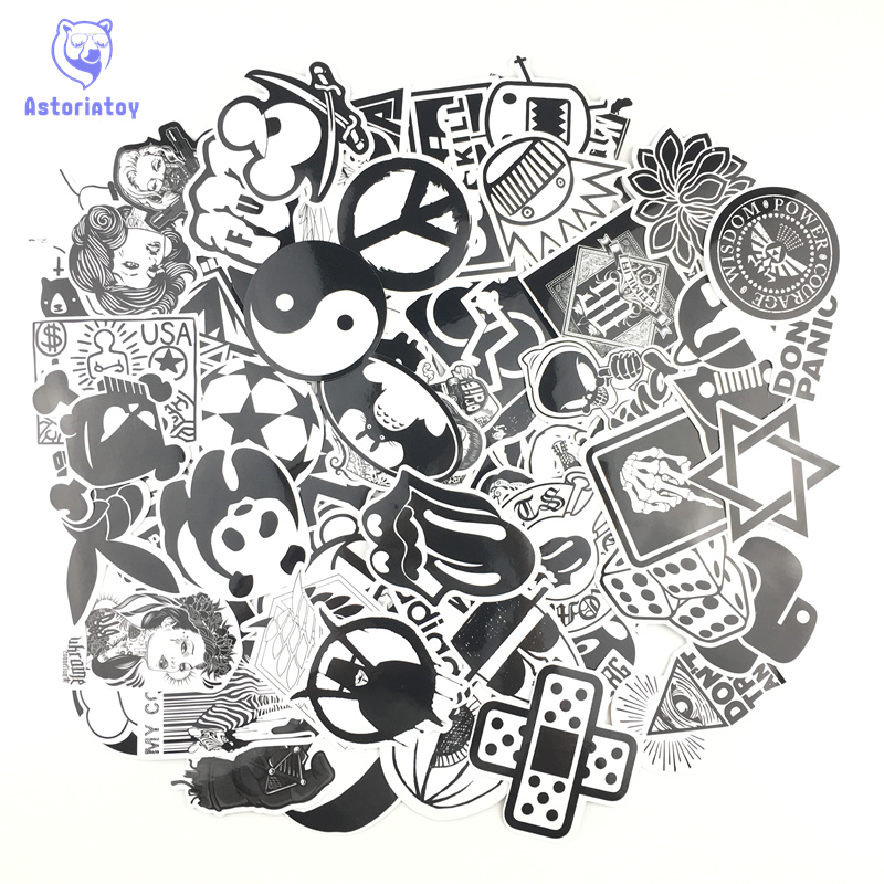 120PCS black mix styling bad joke girl sticker bomb waterproof graffiti Doodle sticker skateboard decal toy sticker