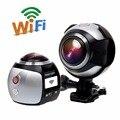 Campark esporte camera wifi mini action camera 2448*2448 hd ultra vr panorama esporte suporte para câmera de 360 graus de condução wi-fi