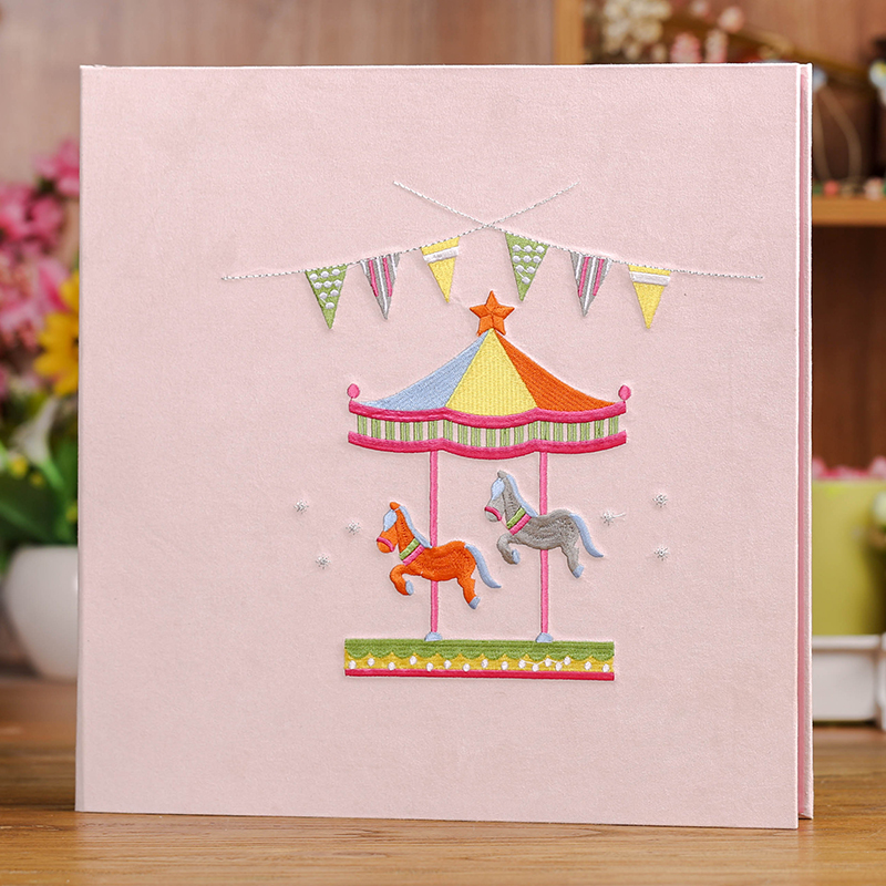2017 new 18 inch embroidery cloth self-adhesive film paste DIY photo album married couple album baby growth album