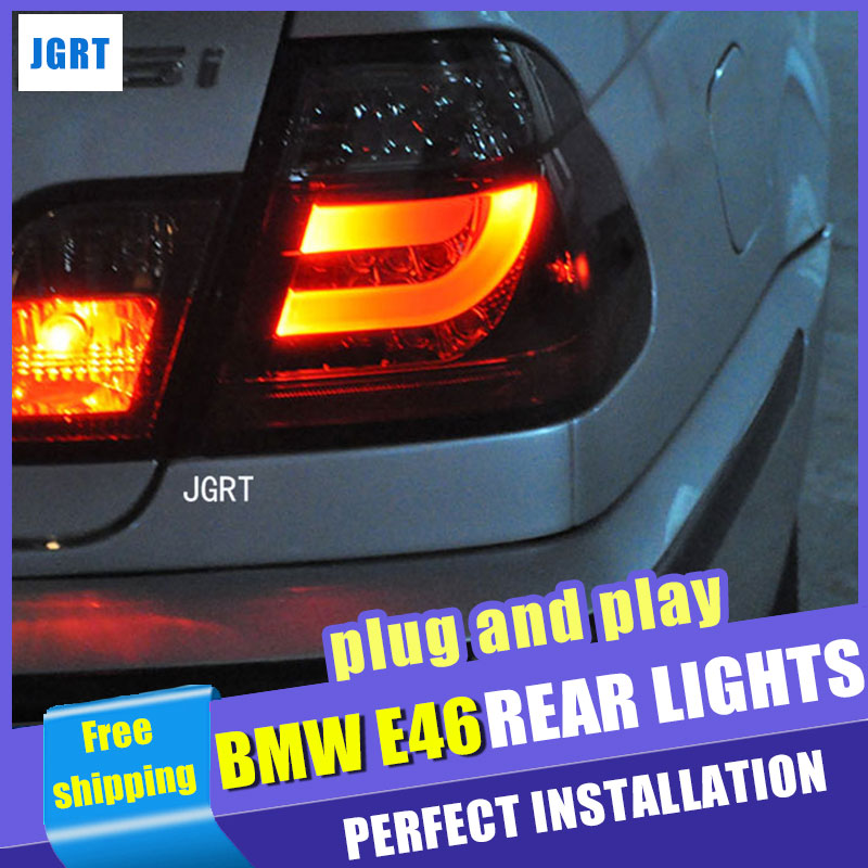 стайлинга автомобилей для сборки БМВ Е46 2001-2004 задний фонарь на Е46 задние фонари специальный автомобильный свет Сид задний фонарь свет с 4шт.
