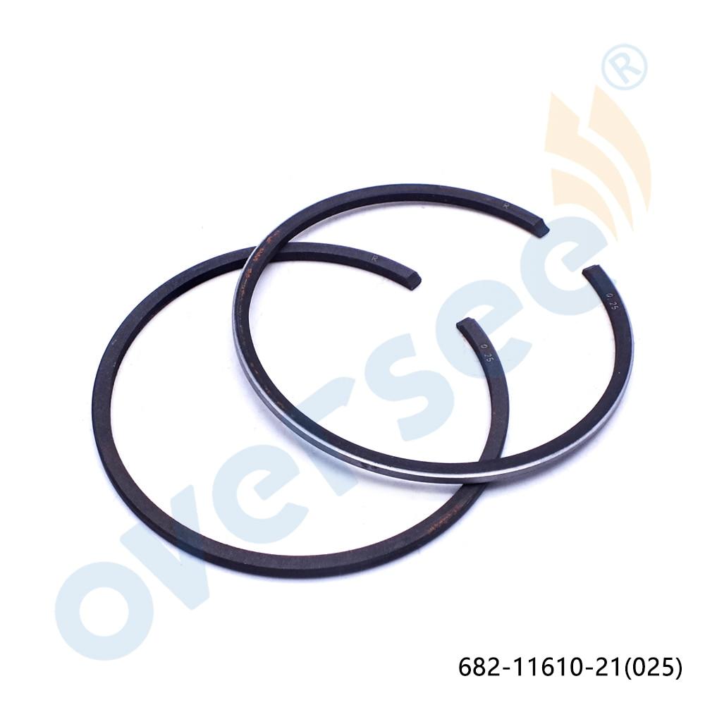 682 11610 11 00 025 conjunto de aneis de pistao para a yamaha powertec parsun 9