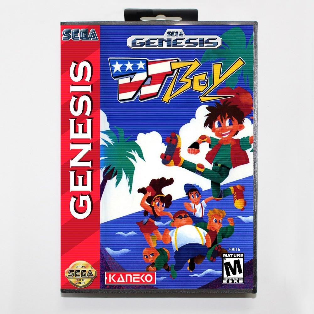 New 16 bit MD game card - dj boy with Retail box For Sega genesis system