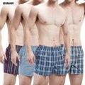 Bxman 100% tejido de algodón de la buena calidad de los hombres calzoncillos hombre calzoncillos boxers underwear men mejor precio 4 unids/lote