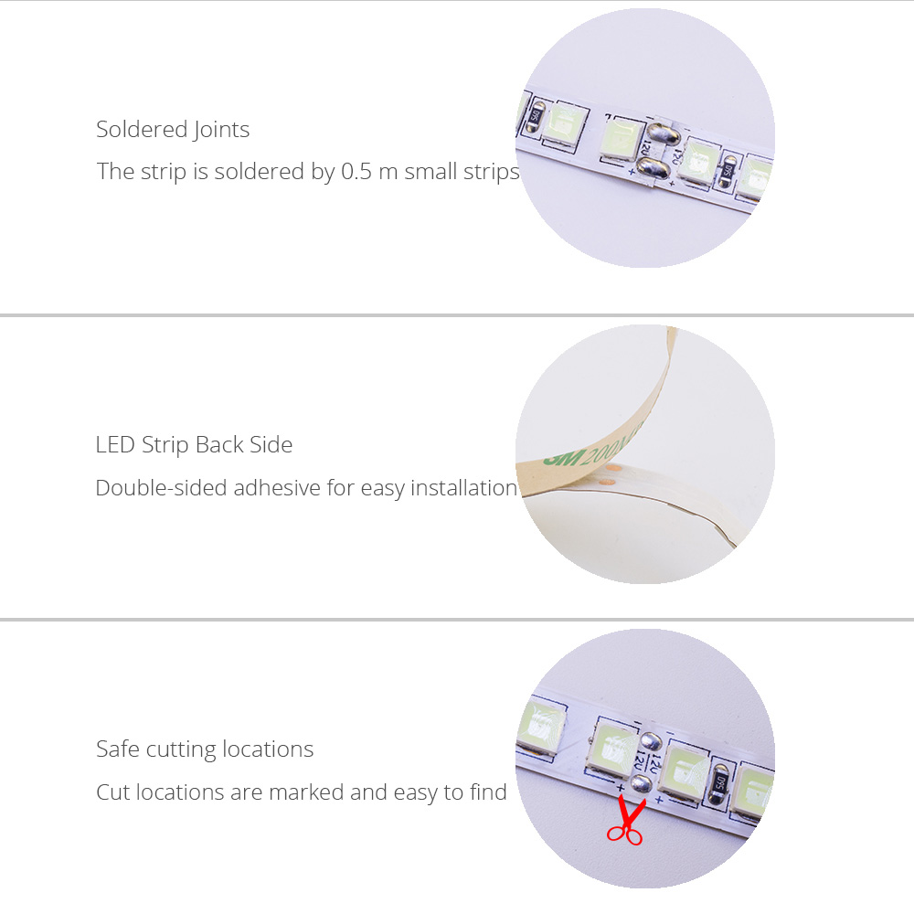 hight resolution of high brightness 5054 led diode strip waterproof dc 12v flexible light stripe 120 led tape touch controller set hello fish in led strips from lights