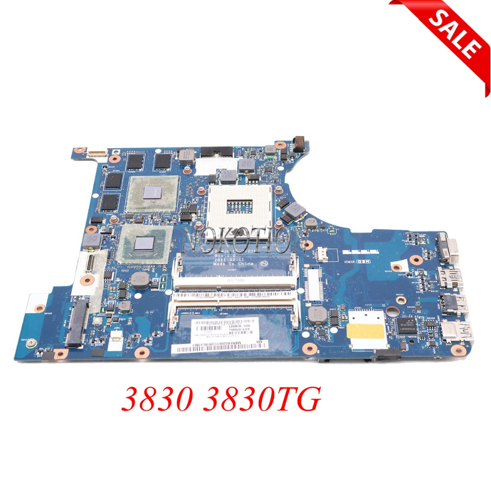 NOKOTION Main board for acer aspire 3830 3830TG laptop motherboard MBRFQ02002 MB.RFQ02.002 P3MJ0 LA-7121P HM65 DDR3 GT540M test nokotion la 7221p mbrhj02001 mb rhj02 001 main board for acer aspire 5830 5830t laptop motherboard hm65 ddr3 geforce gt540m gpu