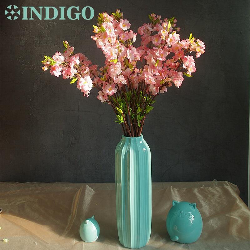 Wholesale Flowers For Weddings Events: INDIGO Wholesale 100pcs Cherry Blossom Peach Flower