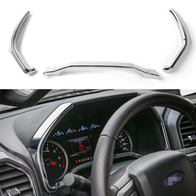 3Colors Car Inner ABS Dashboard Instrument Box Cover Trim Strip ...